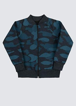 Бомбер дитячий камуфляж, темно синій