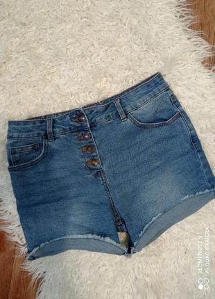 Шорты джинсовые,высокая посадка. denim