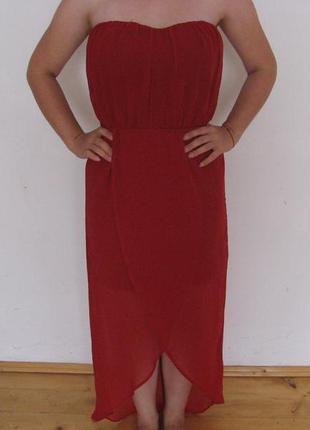 Вечірня шифонова сукня від  stradivarius