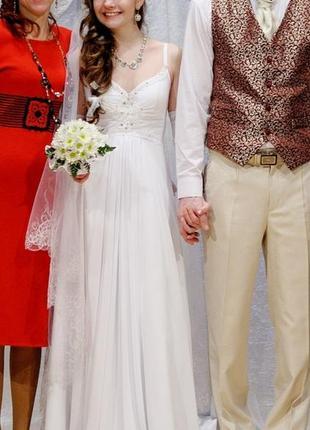 Свадебное платье,ампир,греческое,карсет затягиваеться