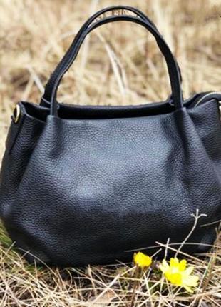 Шикарная кожаная сумка ( италия)