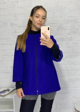 Кардиган пиджак кашемир синий 3/4 рукава