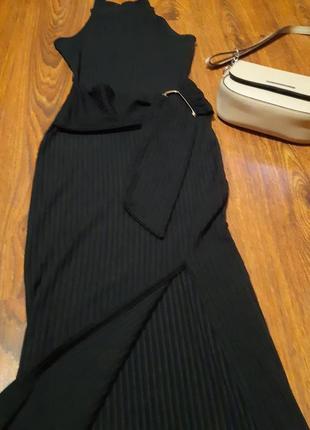 Платье миди в рубчик new look