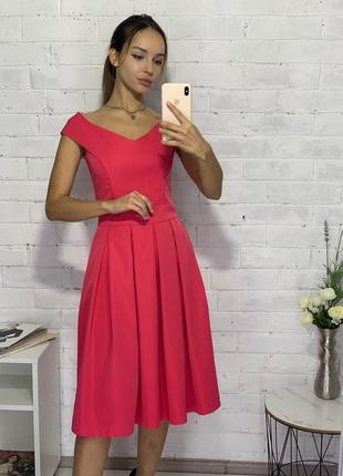 Платье вечернее миди корсет