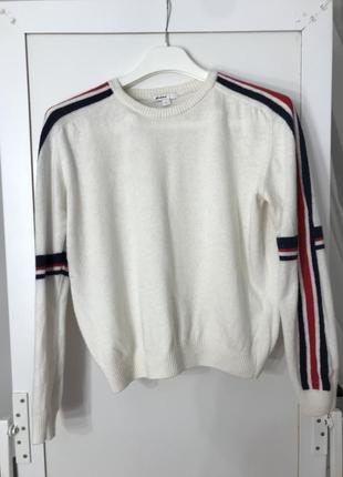 Шерстяний пуловер subduet ❤️💙🤍