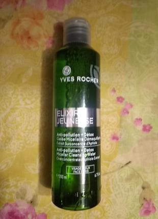 Мицеллярная вода - гель детокс и восстановление elixir jeunesse yves rocher