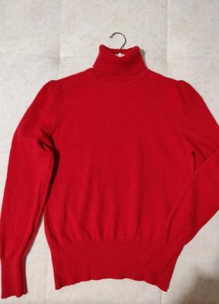 Кашемировый свитер гольф водолазка f&f