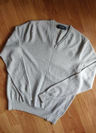 Шерстяной свитер джемпер полувер