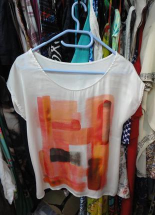 Яркая легкая футболка (атлас - трикотаж)