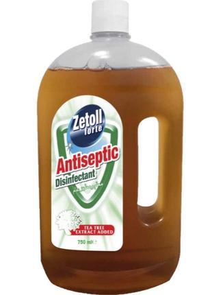 Зетол zetoll форте с чайным деревом антисептик дезинфектор универсальный