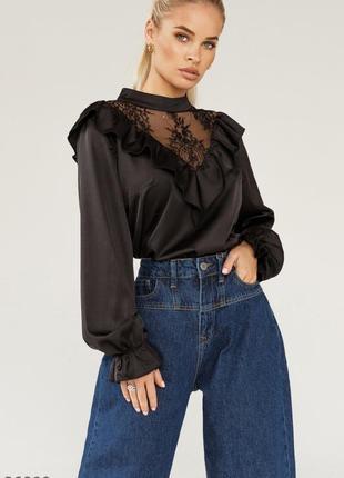 Трендовая шелковая блуза