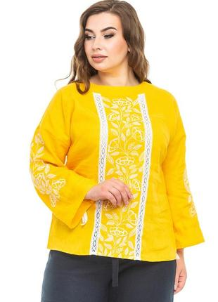 Блуза жіноча елен (льон жовтий)