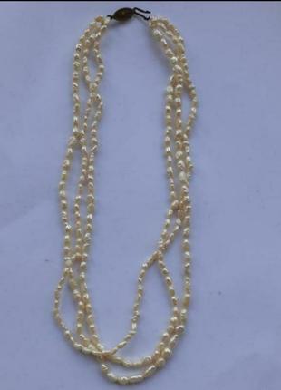 Бусы ожерелье из натурального жемчуга