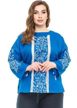 Блуза жіноча елен (льон індіго)
