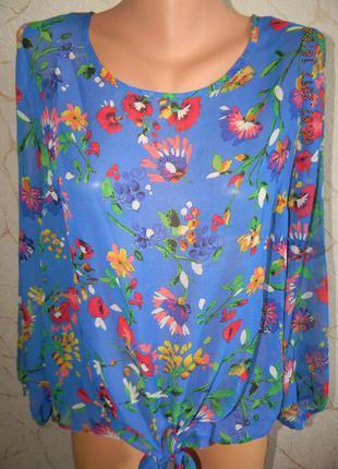 Шифоновая блуза с цветами
