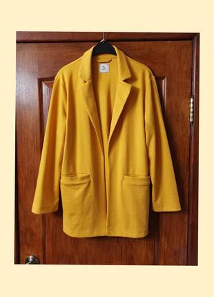 Длинный блейзер длинный пиджак жакет прямой пиджак