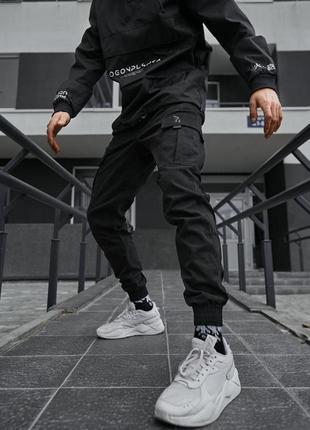 Теплые брюки карго мужские