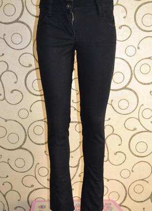 Штаны джинсы next черные прямые slim р.6 р.xs р.40-42