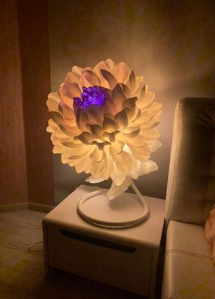 Прикроватный ночник цветок, настольная led-лампа в детскую, спальню