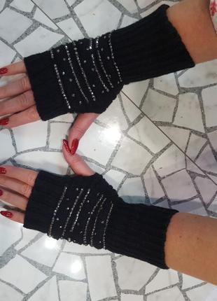 Варежки без пальцев