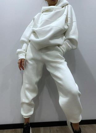Женский спортивный костюм { белый}