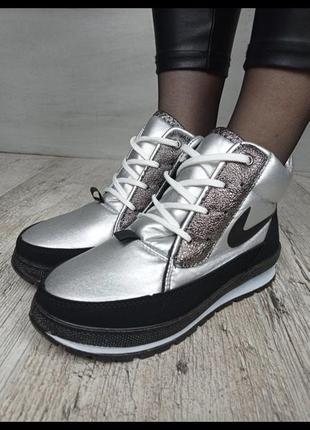 Зимние высокие кроссовки 36-40 на плотное меху