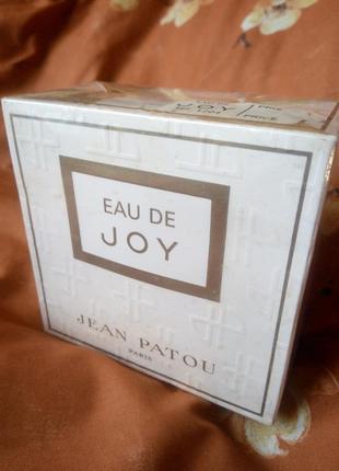 Eau de joy jean patou, винтаж, слюда 45 мл edp
