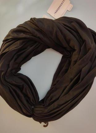 Черный снуд, шарф, хомут