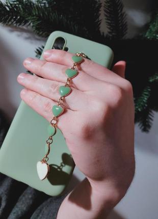 Нежный силиконовый чехол с браслетом на подарок realme 6 pro 14февраля
