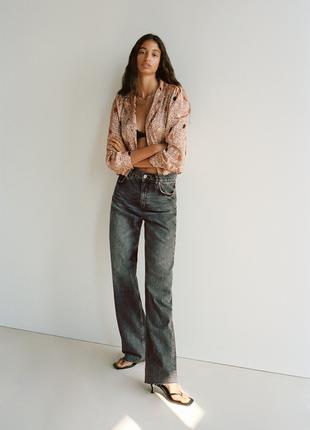 Джинсы свободного кроя, широкие wide leg джинсы zara jeans zw premium 90s full length