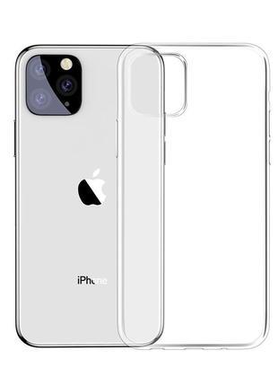 Силиконовый прозрачный чехол iphone 11 pro max айфон