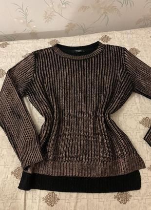 Шикарный трендовый свитер с напылением