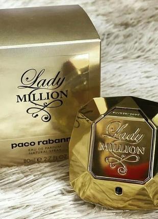 Paco rabanne lady million 80ml женский парфюм
