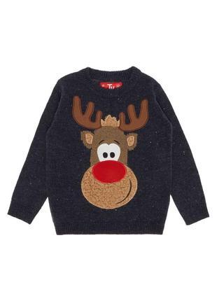 Музыкальный новогодний свитер светящийся рождественский пуловер