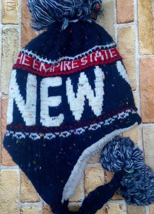 Тёплая лыжная шапка   new work