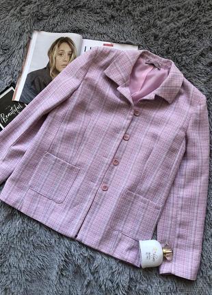 Canda {c&a}  твидовый розовый пиджак / жакет на пуговицах canda {c&a}