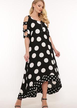 Платье льняное батал