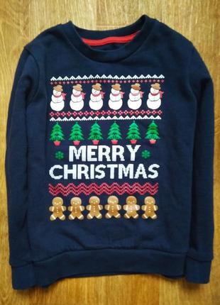 Новогодний свитер рождественский пуловер