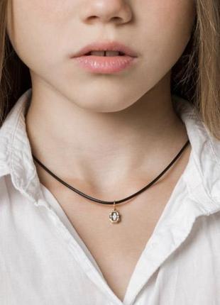 Крестик маленький, хрестик дитячий серебро 925° с позолотой 999, срібло, хрестини