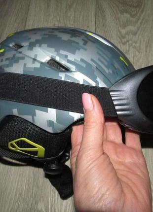Горнолыжный шлем c маской xs-s р.49-51cм