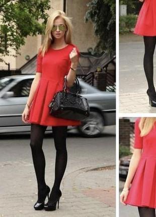 Красное платье zara m