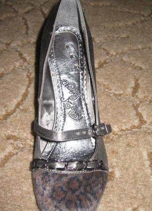 Серые тканевые туфли