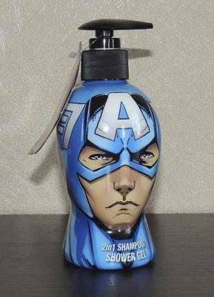 Marvel avengers captain america детский шампунь + гель для душа