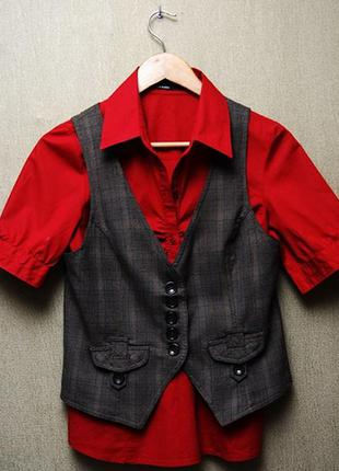 Красная блузка vero moda