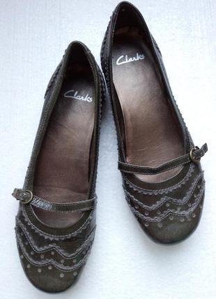 Балетки, туфли clarks originals из натуральной лакированной кожи