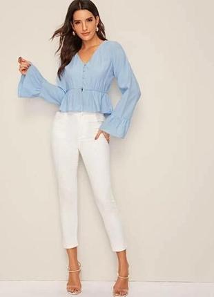 Серо-голубая блуза 🌞