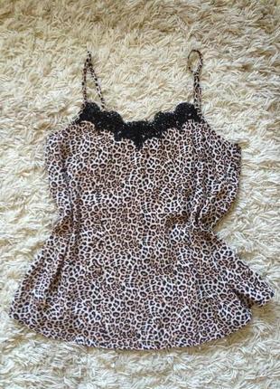 Леопардовая майка в бельевом стиле