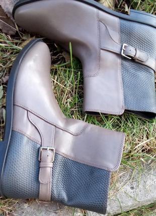 Розпродаж!!! шкіряні черевики полусапоги ботінки ecco 💣 37розм)