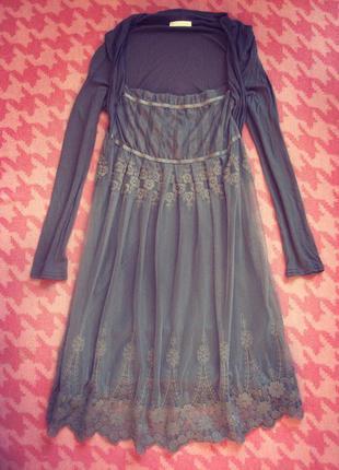 Вечернее платье с кружевом promod