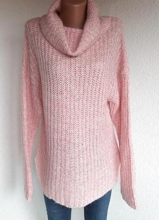 Удлиненный свитерок крупной вязки
